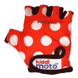 Kiddimoto Gloves Red Dotty Small