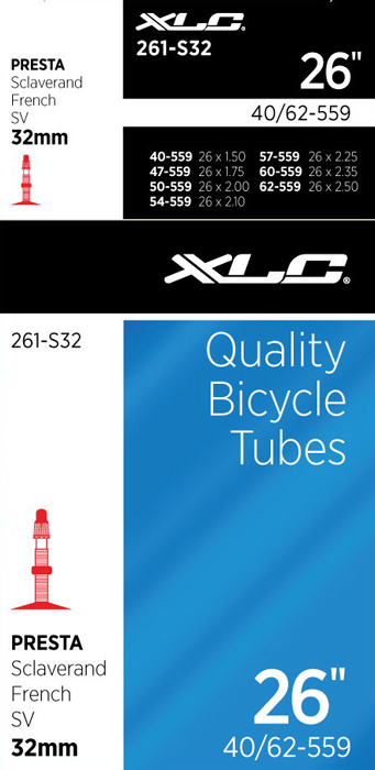 Xlc Bicycle Inner Tube 26 X 1.50 Presta Valve 40Mm