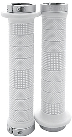 KHE Grips Pyramid Lockon 147mm With Clamp/Caps White