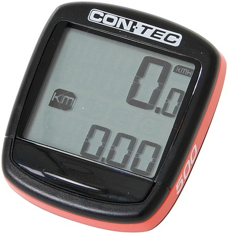 Contec Cycle Computer C-500 5 Functions - Black/Red