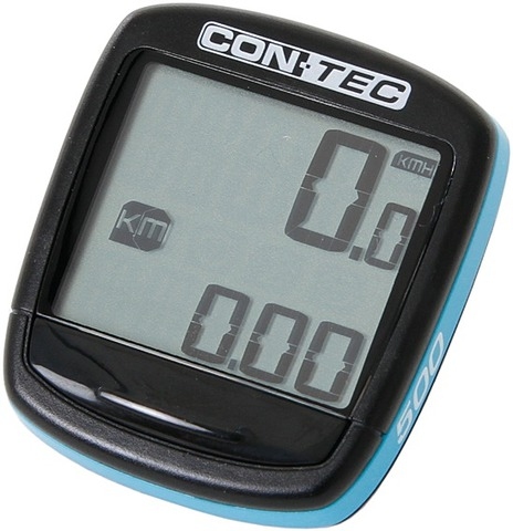 Contec Cycle Computer C-500 5 Functions - Black/Blue