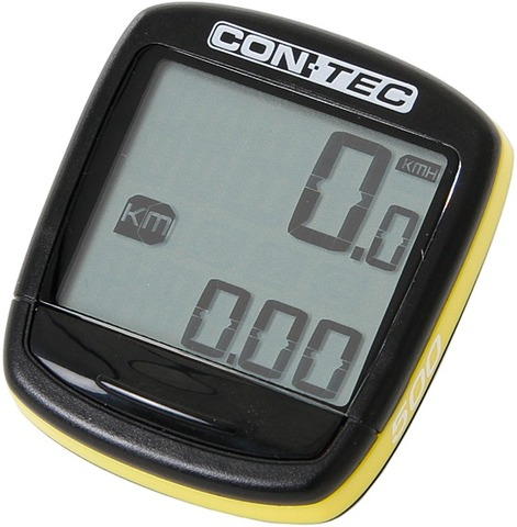 Contec Cycle Computer C-500 5 Functions - Black/Yellow