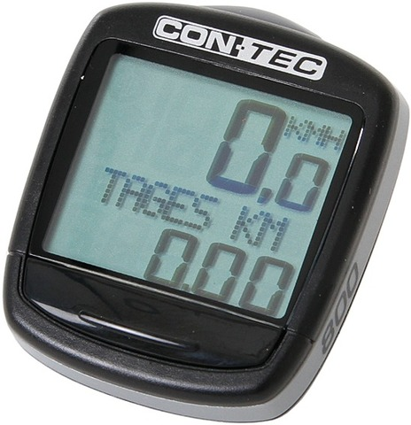 Contec Cycle Computer C-800 8 Functions - Black/Grey