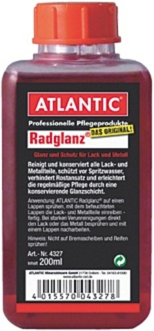 Atlantic Cleaning Agent Radglanz Bottle 200ml