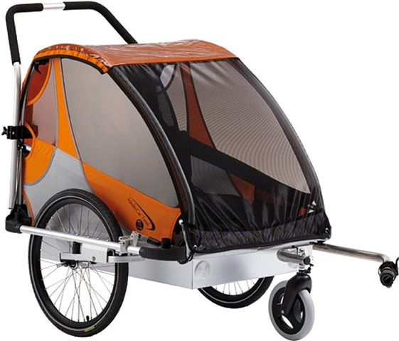 Kids Touring Bicycle Trailer Tourer L2 Orange/Silver