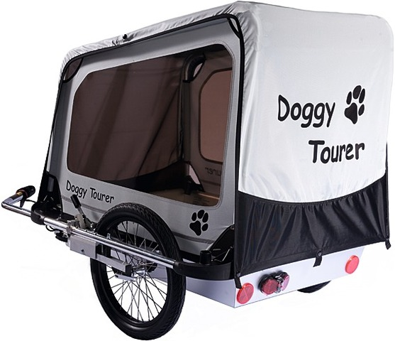 Kids Touring Dog Cart Doggy Tourer L Black/White