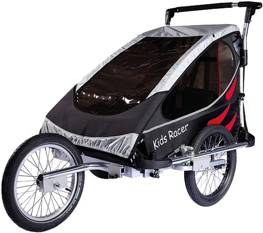 Kids Touring Bicycle Trailer Racer S - Black/Red
