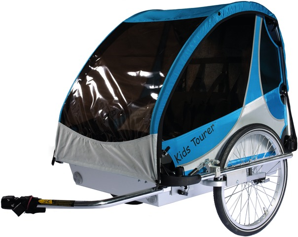 Kids Touring Bicycle Trailer Tourer M2 - Blue/Silver