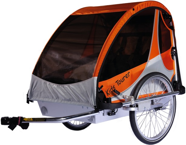 Kids Touring Bicycle Trailer Tourer M2 - Orange/Silver