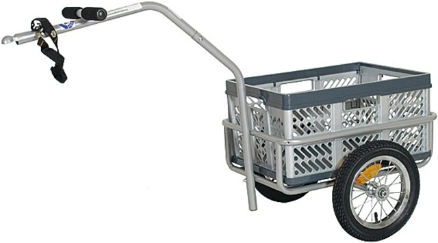Monz Bike Trailer Small Cargo Trailer 45L Steel Grey