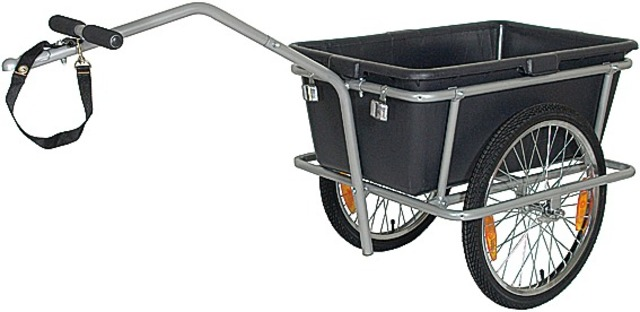 Monz Bike Trailer Big Cargo Trailer 90L Steel Grey