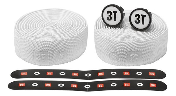 3T Corius LTD Handlebar Tape + Bar End Caps - White