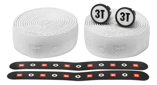 3T Pro Corius Handlebar Tape + Bar End Caps - White