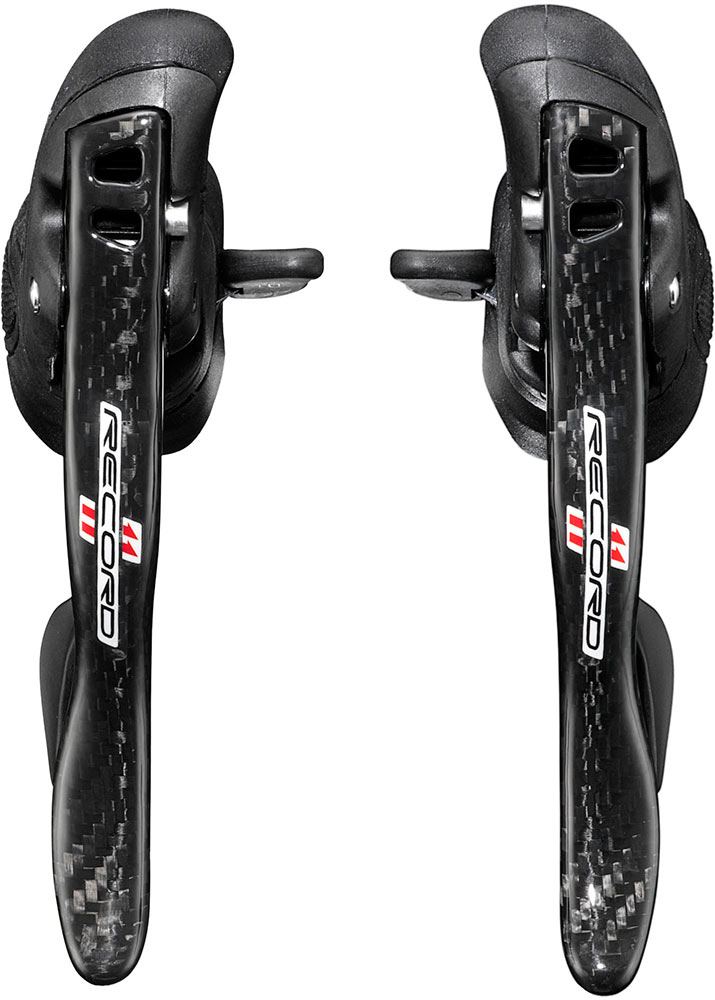 Campagnolo Shifter Set Record Ergopower 11S Carbon - Black