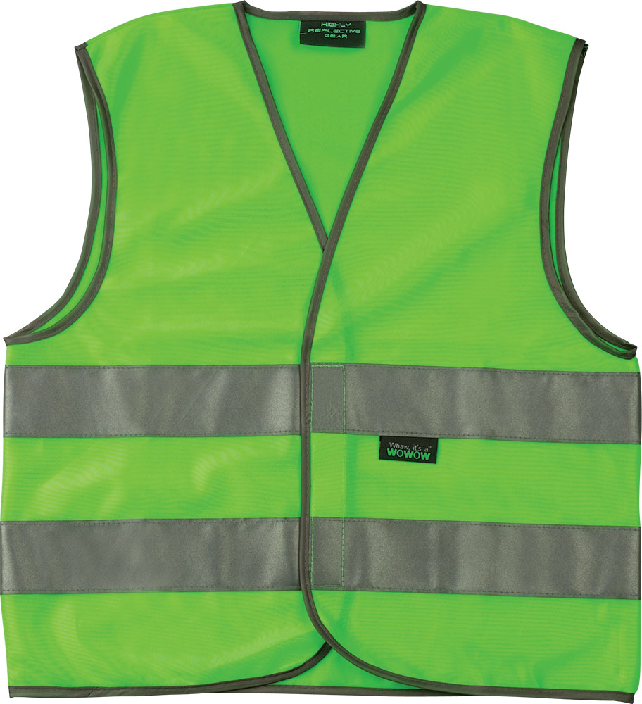Wowow Childrens Safety Vest Mesh Gilet Reflection 6-12 Year
