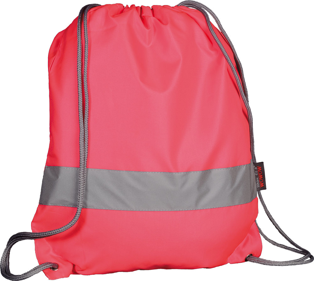 Wowow Backpack with Reflective Strip - Fluor Pink