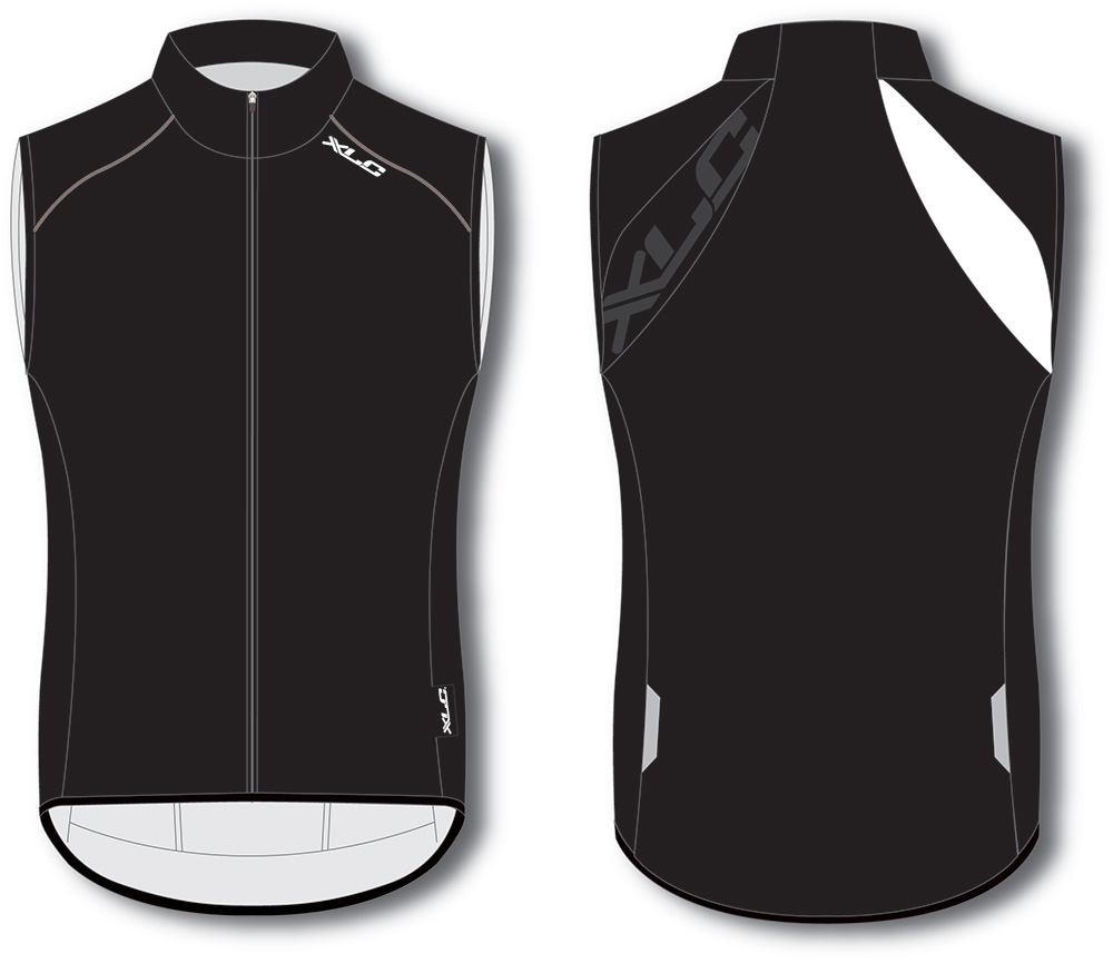 XLC Vest Windbody Without Sleeves Black/White S