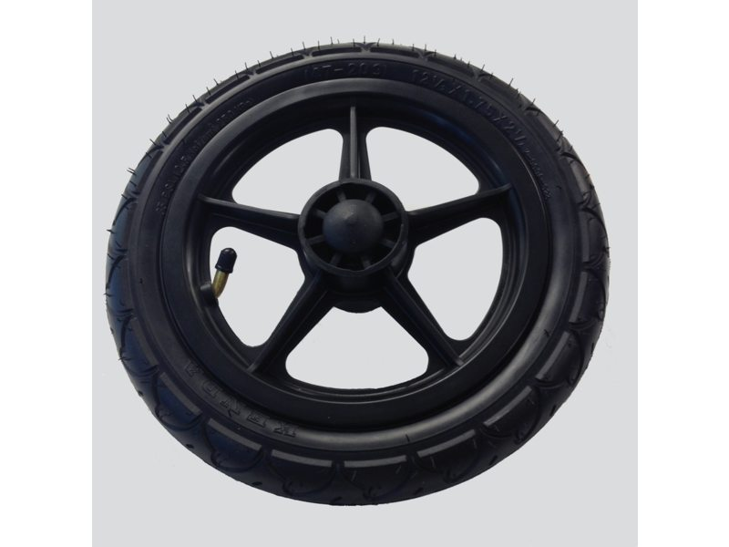 Burley Wheel with Axle Including Tire for Travoy Black
