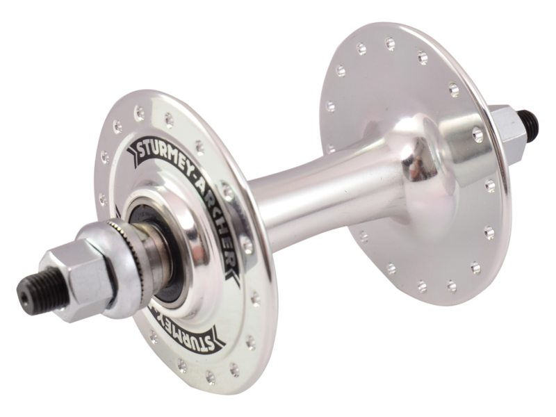 Sturmey Archer Front Hub HBT30 32 Hole Solid Axle - Silver