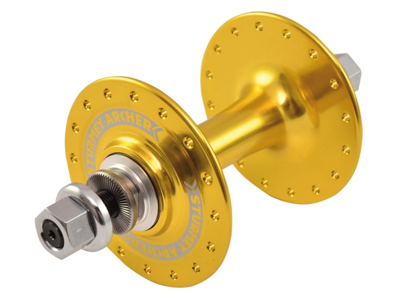 Sturmey Archer Front Hub HBT30 32 Hole Solid Axle - Gold