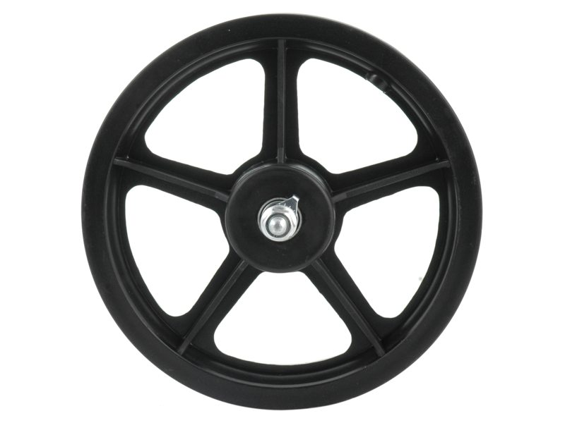 Front Wheel 12x 1 1/2 x 2 1/4 for Kick Scooter Plastic Black