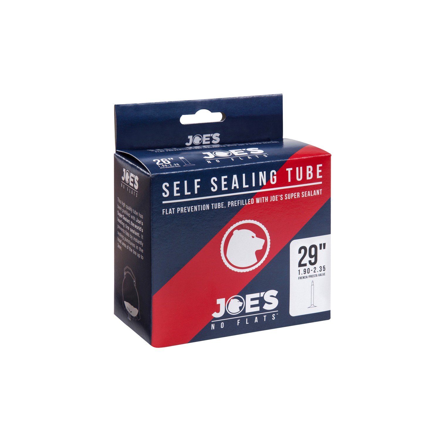 Joe No Flats Inner Tube Self-Sealing 29X1.75 Presta Valve