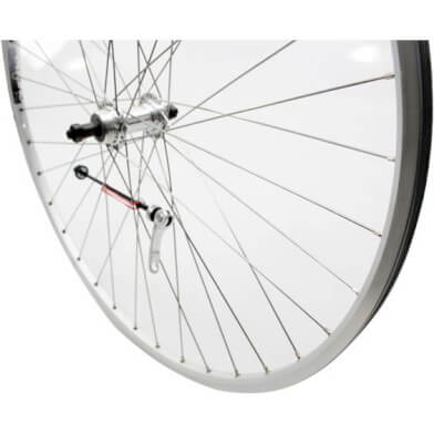Rear Wheel 28 x 1 Freewheel Quick Release Skewer Inox Spokes