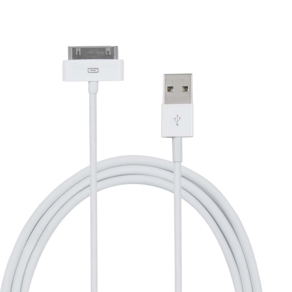 Cortina USB Charge Cable For Iphone 4 - White
