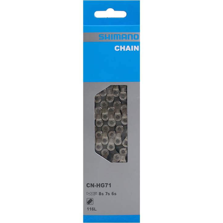 Shimano Bicycle Chain HG71 1/2 x 3/32 Inch 7/8S