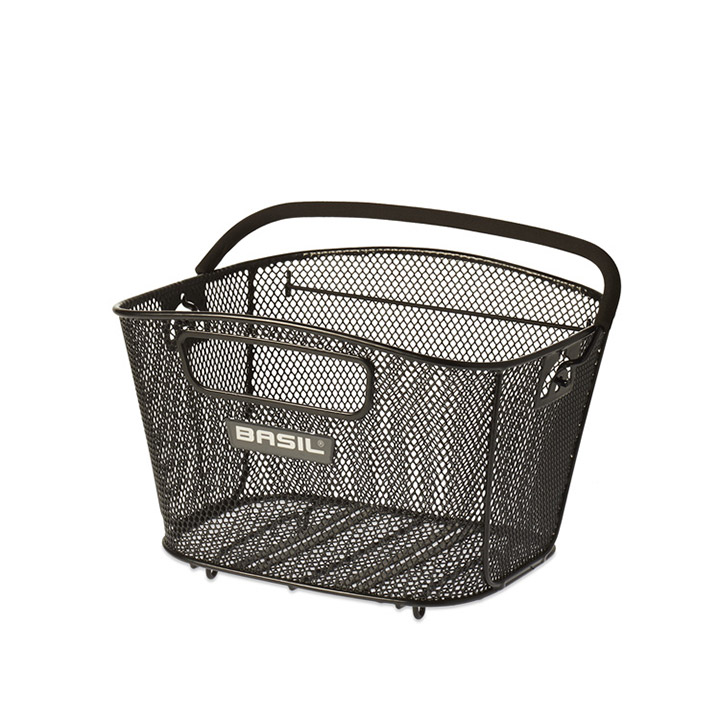 Basil Bicycle Basket For Rear Bold Steel Size S Black