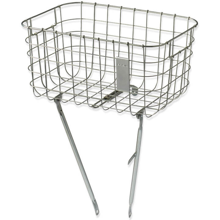 Basil Robin Bicycle Basket 26/28 Inch Fixed - Silver