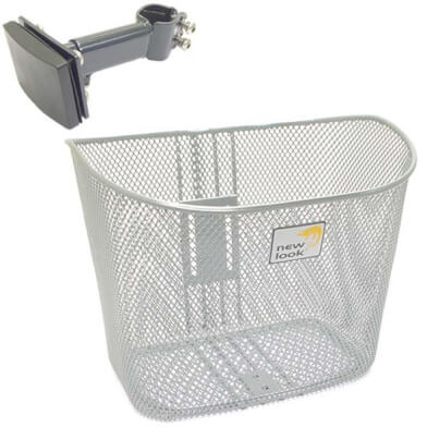 New Looxs Toscane Bicycle Basket Rapidlock Silver