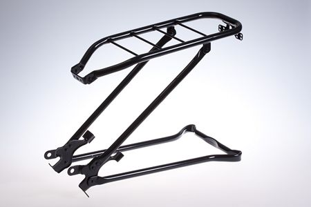 Rear Luggage Carrier with Kickstand 24 Inch Black