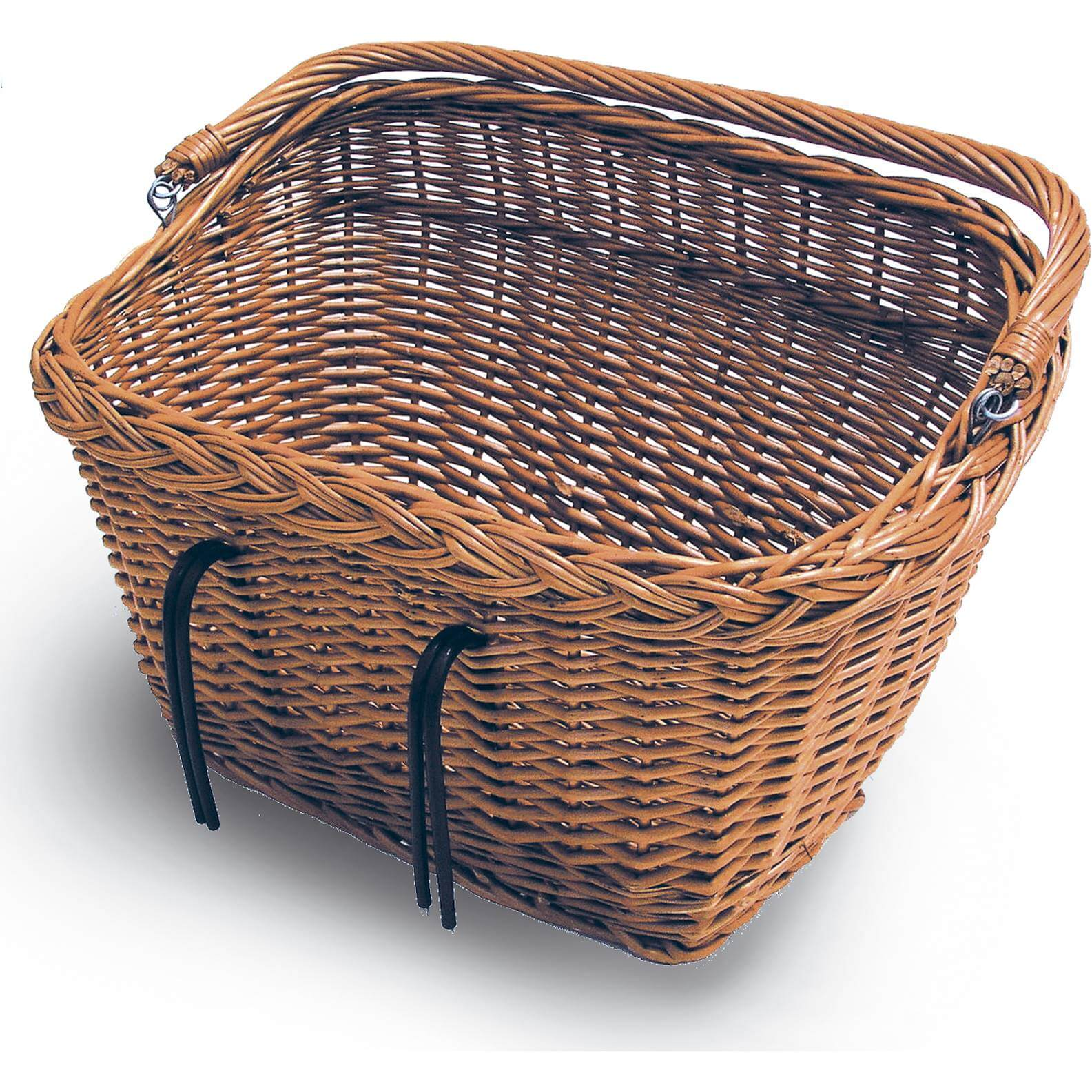 Basil Wicker Bicycle Basket Dublin Square With Belly