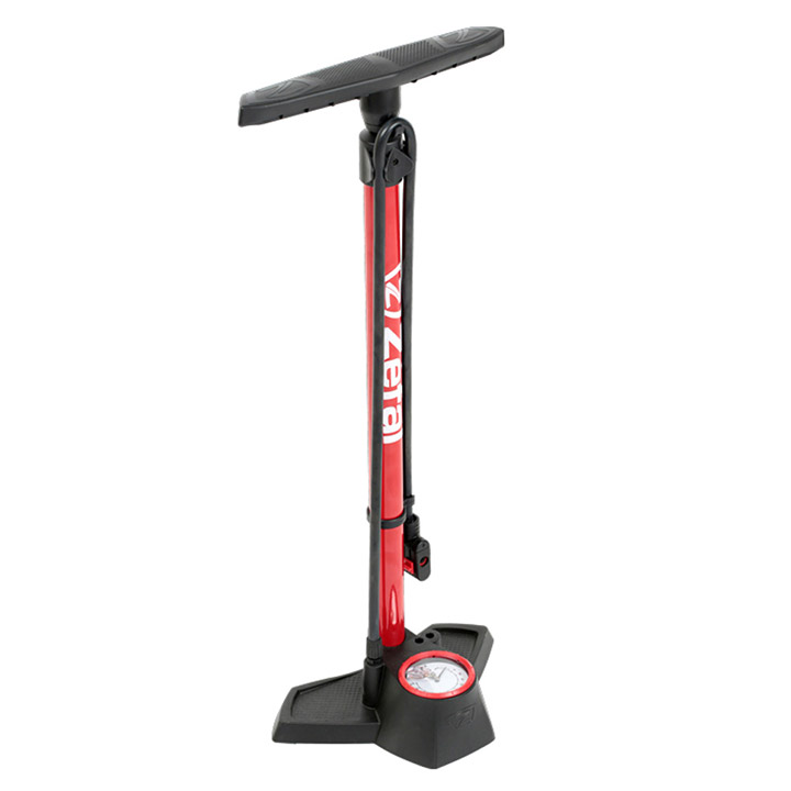 Zefal Track Pump Profile Max FP30 Steel 11 Bar - Red/Black