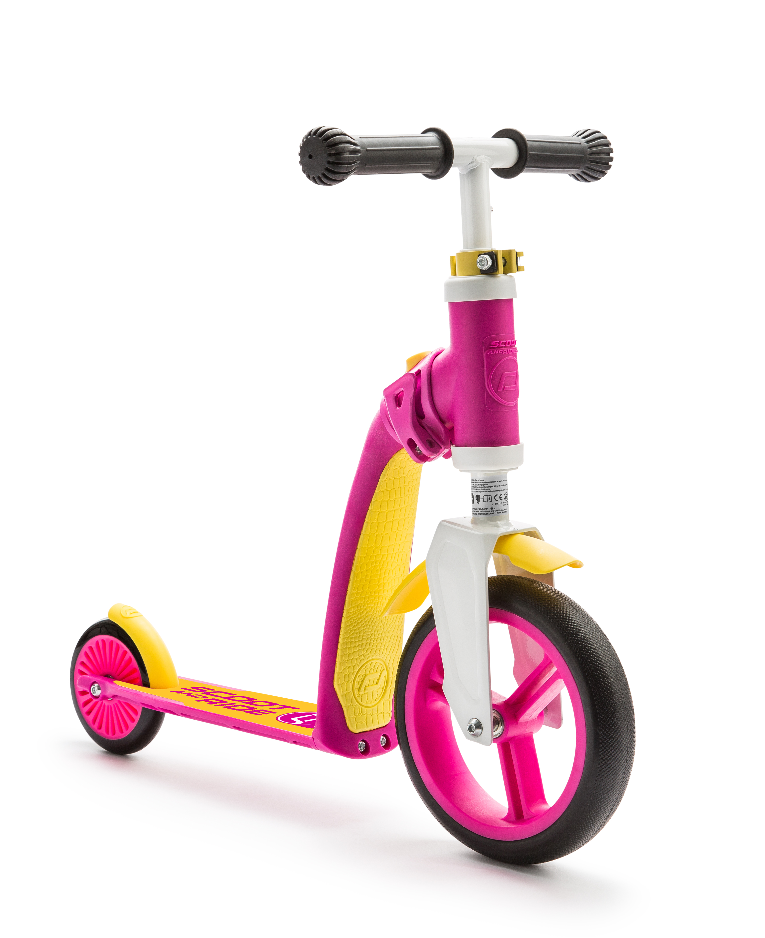 Scooter and Ride Highway Baby - Pink/Yellow