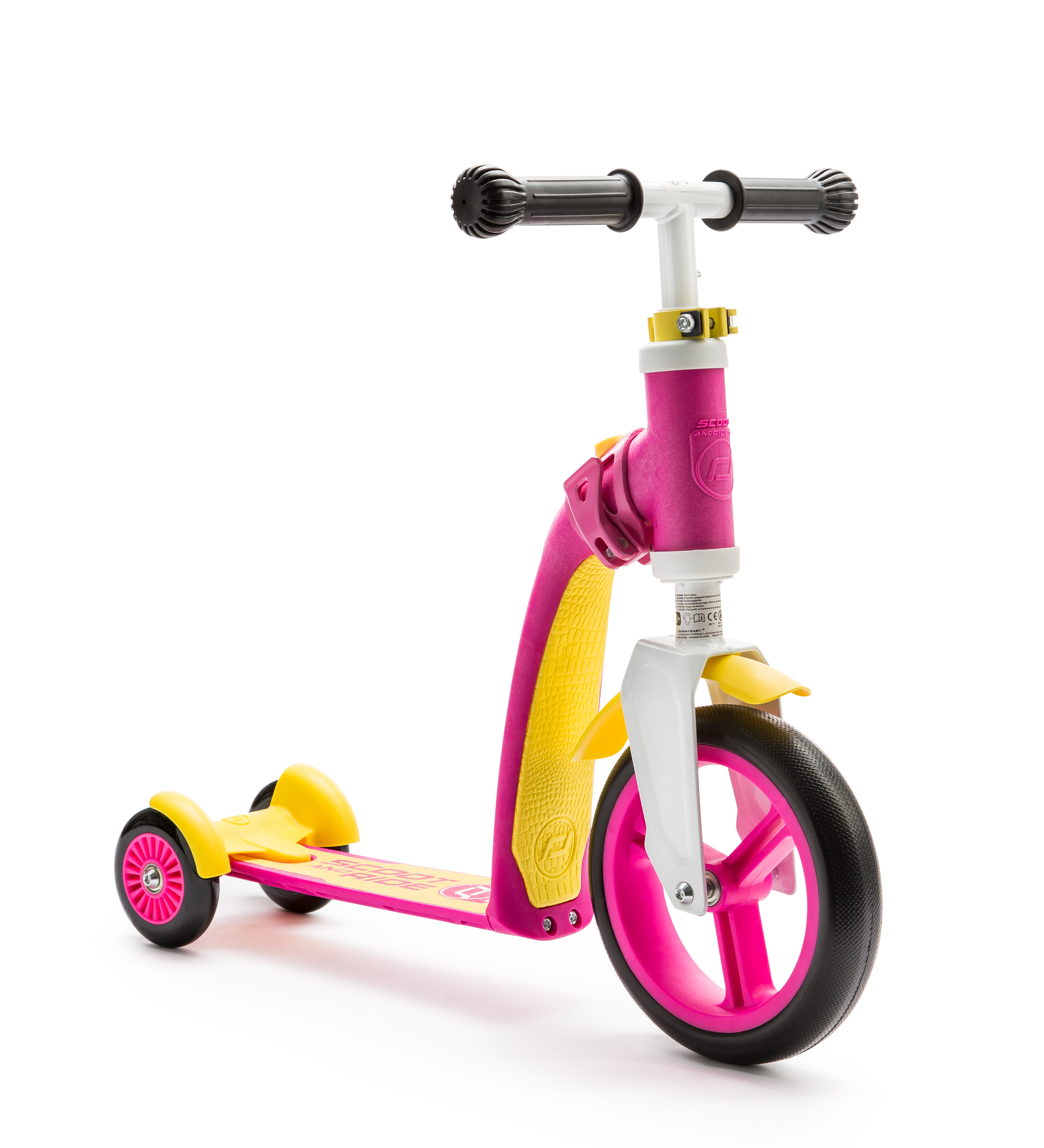 Scooter and Ride Highway Baby Plus - Pink/Yellow