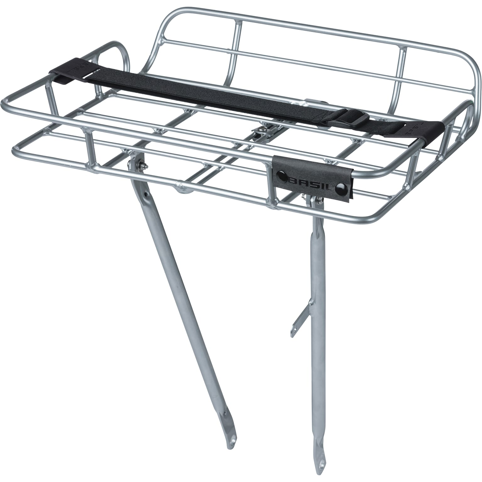 Basil Front Rack Portland with Edge Alu - Silver