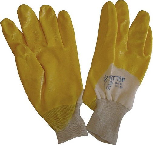 Asatex Nitril Gloves Oil and Grease Resistant Yellow Size 10