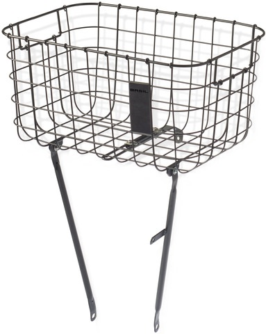 Basil Bicycle Basket Robin Fixed Assembly Front - Black Plat