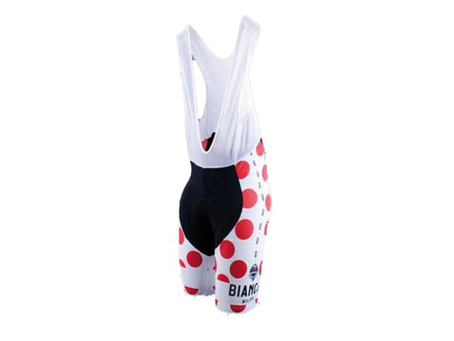 Bianchi Short Cycling Pants Suspenders Victory Dots 15 M