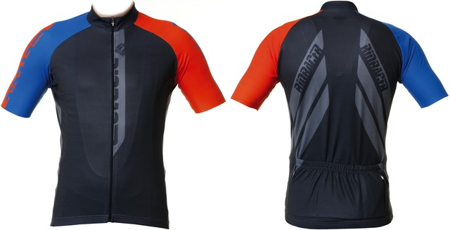 BioRacer Cycling Jersey SS Anthracite/Orange - M