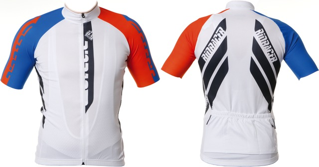 BioRacer Cycling Jersey SS White/Orange - Size L