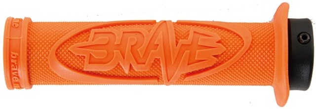 Brave Grips Hucker with Lock Clamp / Flange - Orange