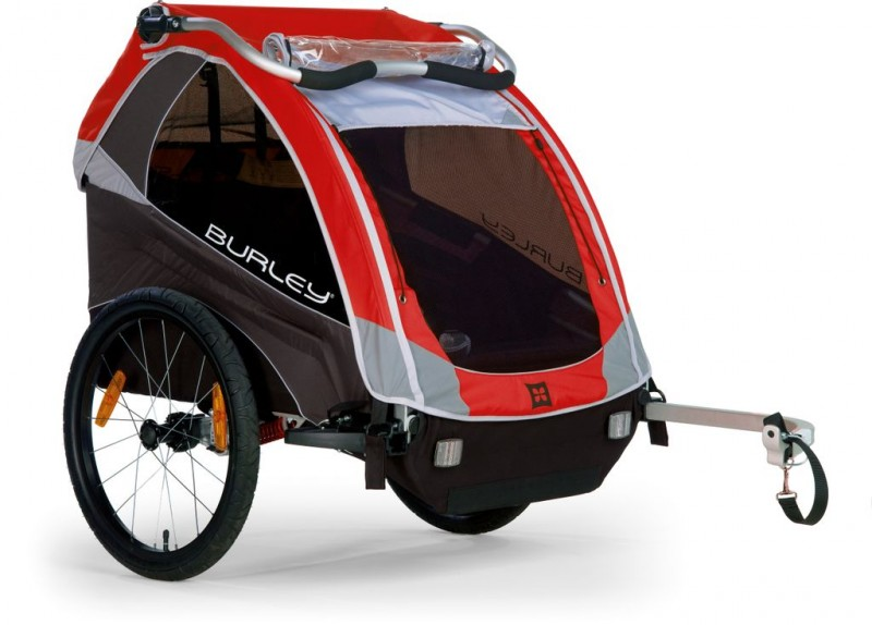 Burley Bicycle Trailer Dlite With Cover Red