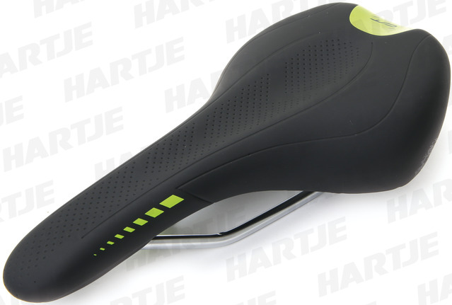 Contec Neo Sport Z Active Bicycle Saddle - Black/Green