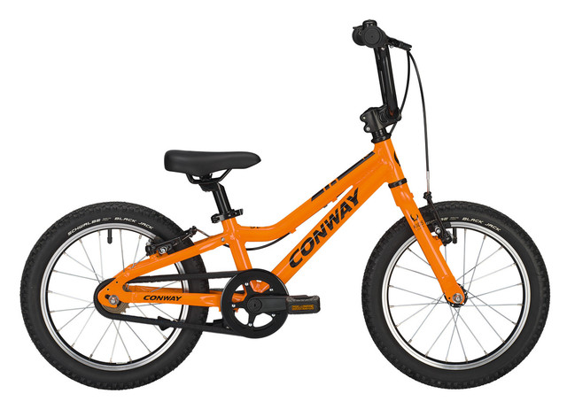 Conway MS 16 Boys Bicycle 16 Inch 20cm 1S - Orange/Black