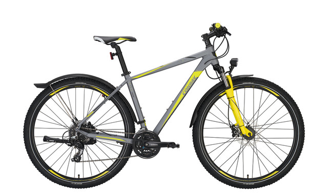 Conway MTB MC 429 29 Inch 44cm 24V - Matt Gray/Yellow