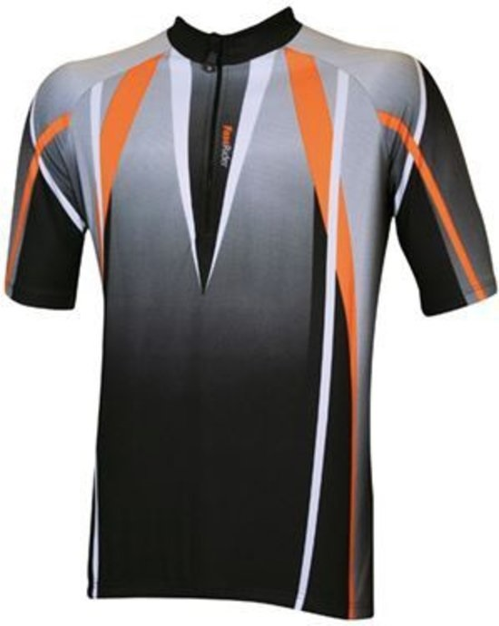 Fast Rider Flame Flash Cycling Jersey SS Black/Red - Size M