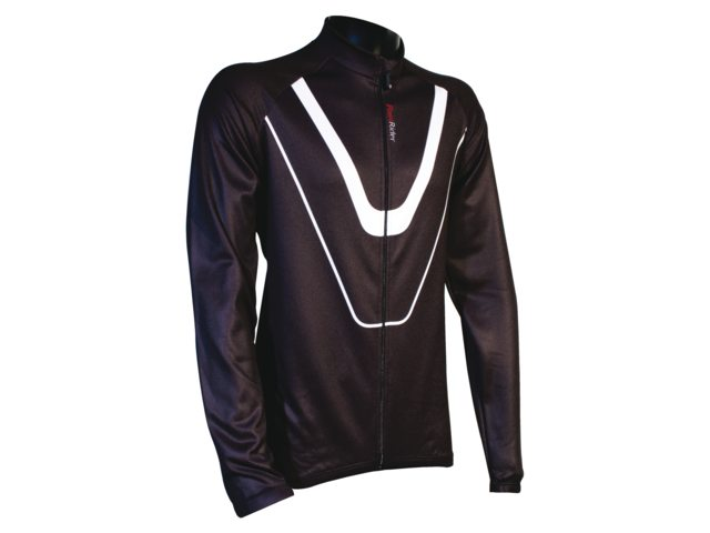 FastRider Cycling Jersey Long Sleeves Track Winter Black M